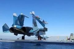 Минобороны РФ опубликовало видео работы авиации крейсера «Адмирал Кузнецов»