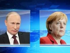 Путин и Меркель выступили против обострения ситуации в Донбассе