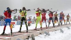 Российские биатлонисты взяли «бронзу» в смешанной эстафете на ЧМ-2017