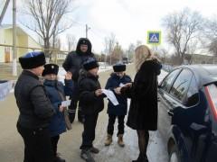 Казачьи патрули обеспечивают безопасность пешеходов в селах Ставрополья