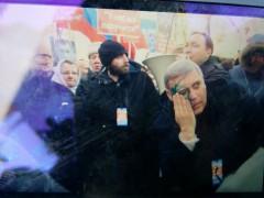 Касьянова в ходе Марша памяти Бориса Немцова облили зеленкой