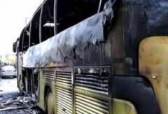 Рейсовый автобус сгорел в Ставрополье, водитель получил ожоги