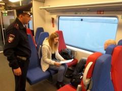 В Большом Сочи транспортной полицией проводится рейд «Пригородный поезд»