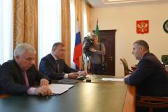 Мурат Кумпилов встретился с руководителем Управления федерального казначейства по Адыгеи