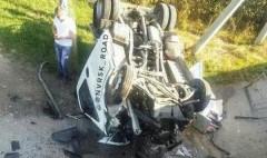 Под Новороссийском «Газель» рухнула с моста, пробив ограждение
