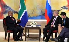 Путин встрелился с Президентом ЮАР Джейкобом Зумой
