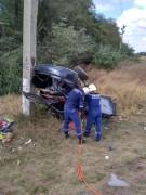 На Дону врезался в опору ЛЭП и перевернулся автомобиль