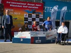 На трассе «Формула-1» состоялся III Международный полумарафон на спортивных колясках Рецепт-Спорт