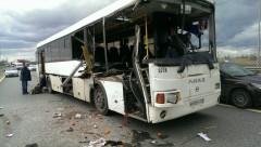 ДТП в Петербурге: автобус столкнулся с грузовиком