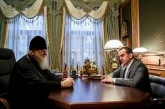 Вениамин Кондратьев поздравил митрополита Екатеринодарского и Кубанского Исидора с Днем Тезоименитства