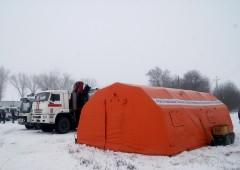 Донские спасатели развернули на дорогах пункты обогрева