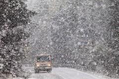 В горах Сочи ожидается налипание мокрого снега