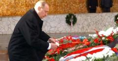 Путин возложил венок к Вечному огню на Мамаевом кургане