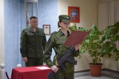 Росгвардия: В Ставрополе девушки-военнослужащие приняли военную присягу