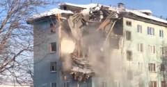 Взрыв газа разрушил четыре этажа жилого дома в Мурманске