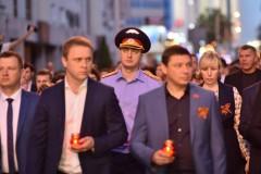 В Краснодаре первый зам руководителя следственного управления СКР принял участие в акции «Свеча памяти»