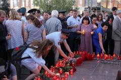 В Краснодаре росгвардейцы приняли участие в патриотической акции «Свеча памяти»