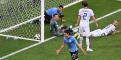 Эдинсон Кавани – лучший игрок матча 1/8 финала ЧМ «Уругвай–Португалия»