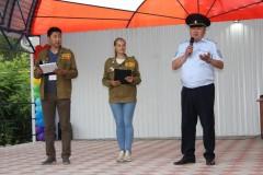 В Калмыкии полицейские приняли участие в открытии смены детского оздоровительного лагеря