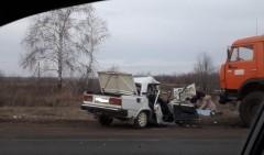 В Чечне при ДТП с «КамАЗом» скончался водитель легковушки