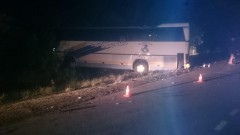 В Ленинградском районе Кубани при ДТП с участием автобуса пострадали 22 человека