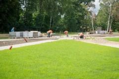 В Новокубанске достраивают парковую зону